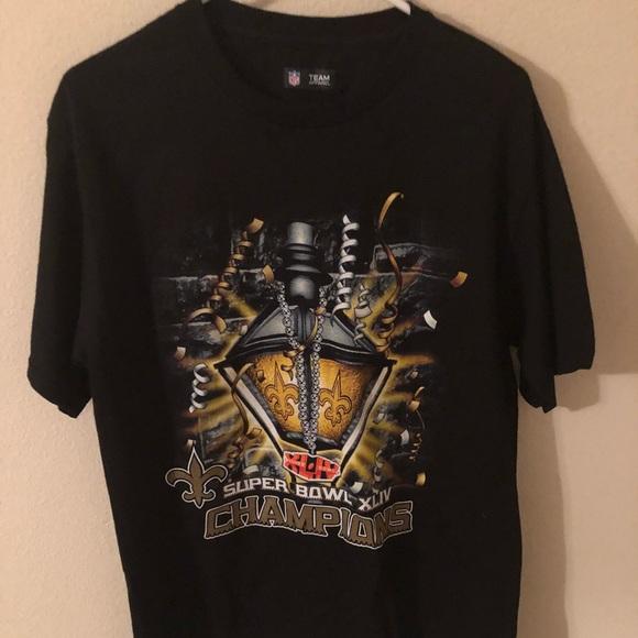 online retailer a0c3e fcf94 New Orleans Saints Super Bowl XLIV Champions Tee